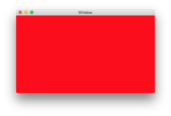 Clear Red Screen