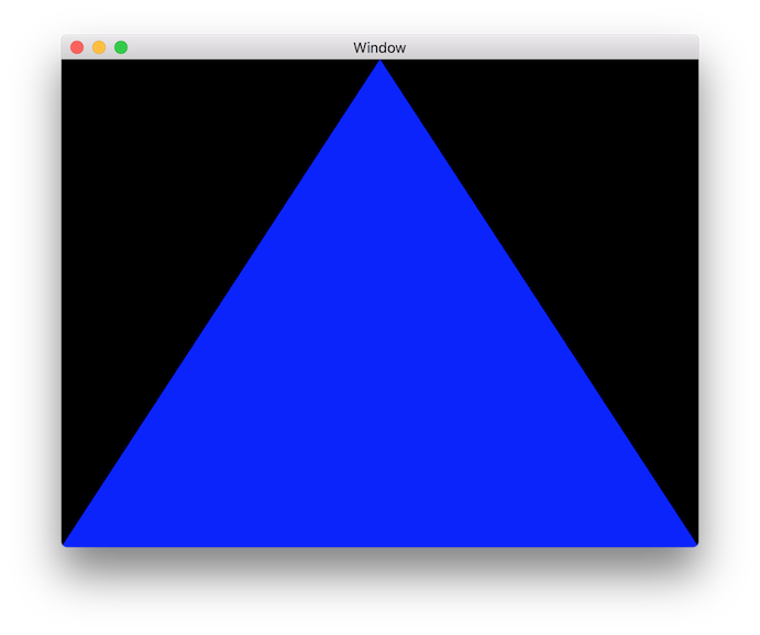 All Blue Triangle